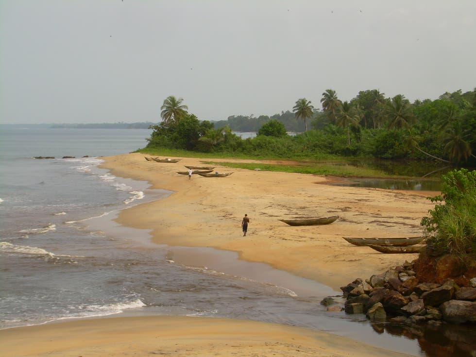 Mar en Playa de Kribi