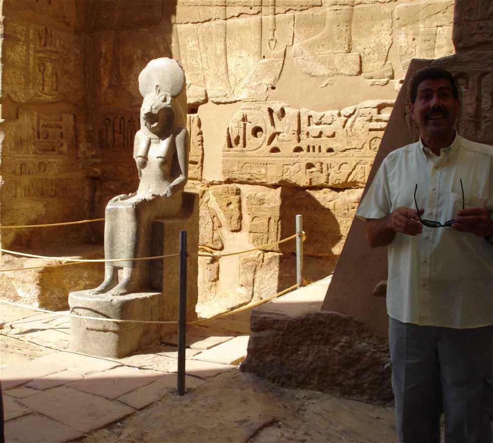 Escultura en Medinet Habu