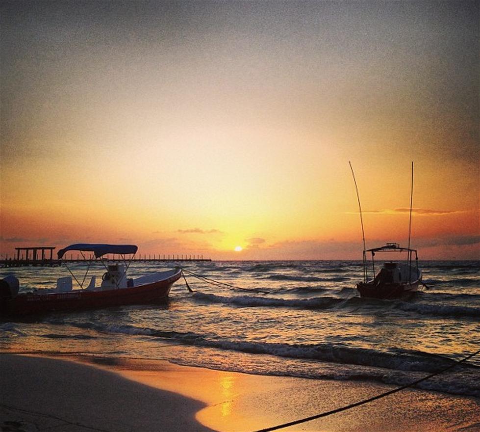 Amanecer en Playa del Carmen