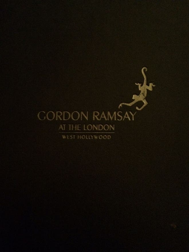 Libro en Gordon Ramsay at the London West Hollywood