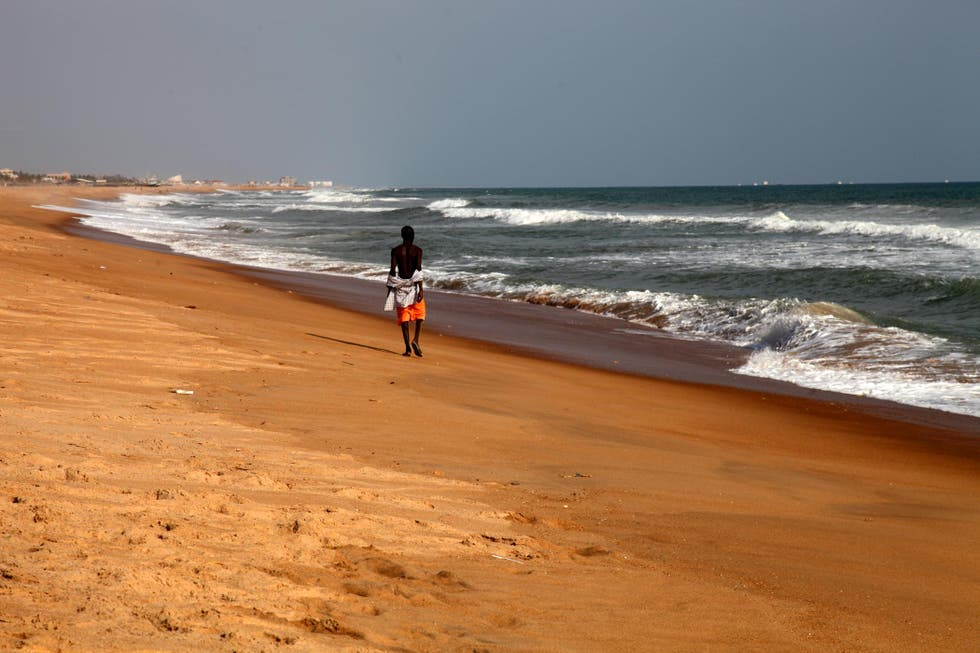 Mar en Playa de Cotonou