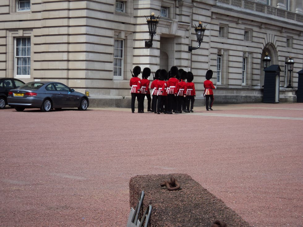 Pared en Cambio de guardia en el Buckingham Palace