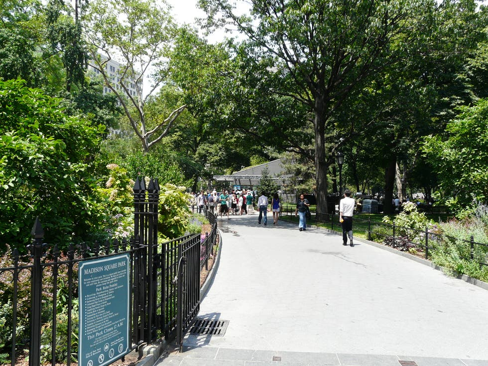 Suelo en Madison Square Park