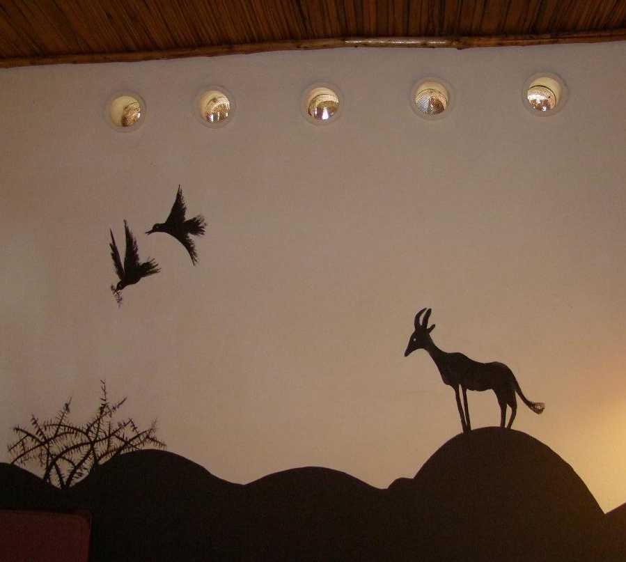 Mural en Hotel Amboseli Serena Safari Lodge