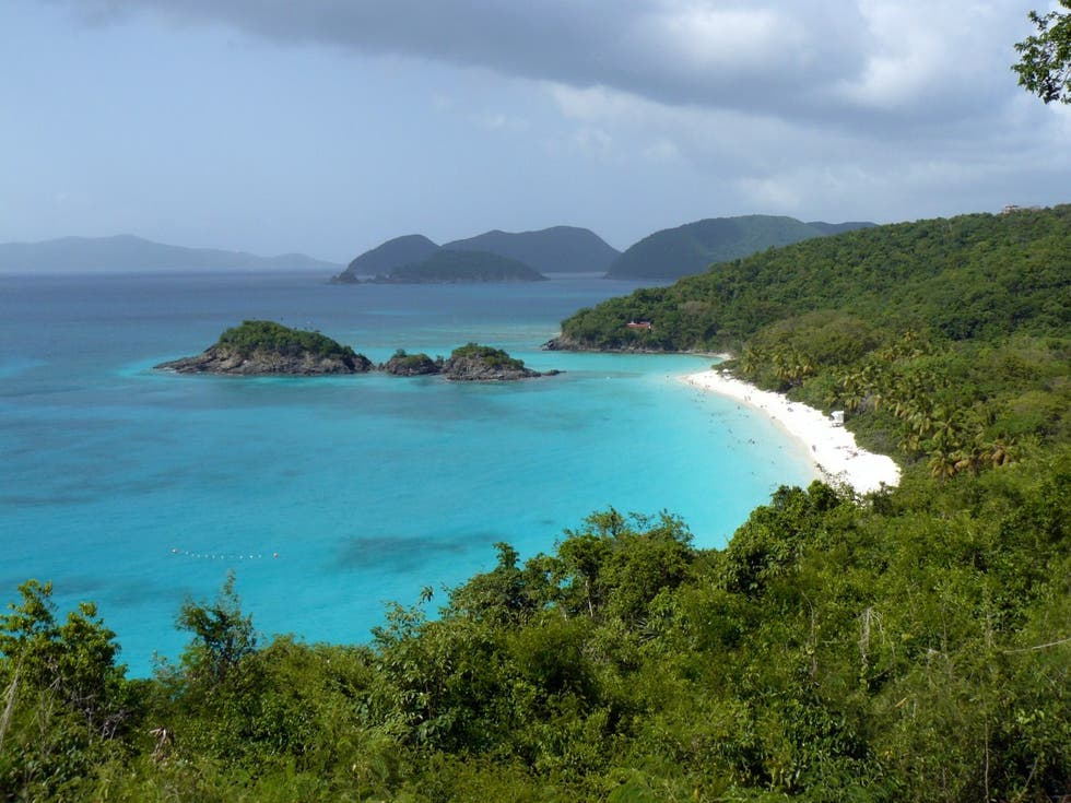 Mar en Trunk Bay