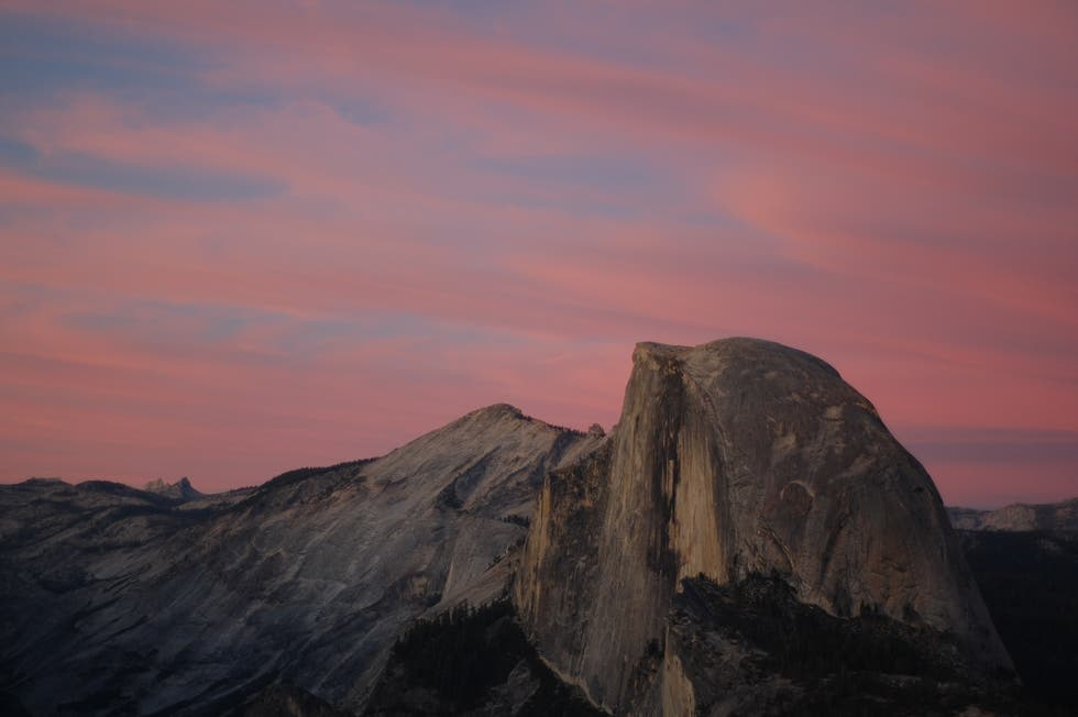 Dusk in Yosemite National Park