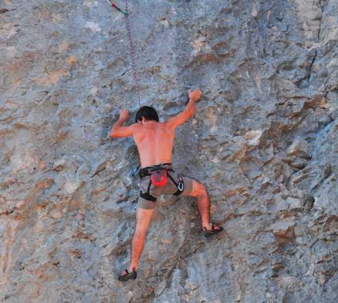 Alpinismo en Zona de escalada en Oro