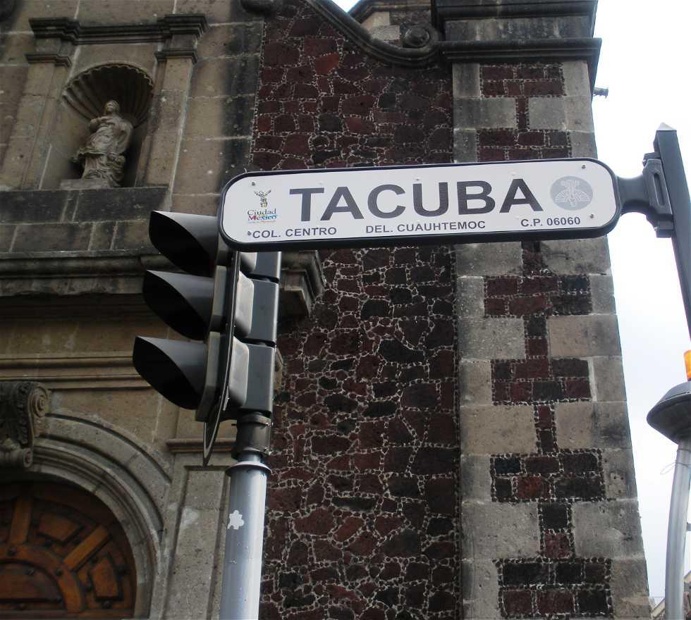 Cartel de la calle en Centro histórico de México D.F.