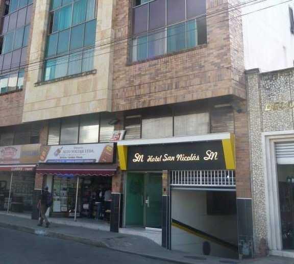 Fachada en Hotel San Nicolás