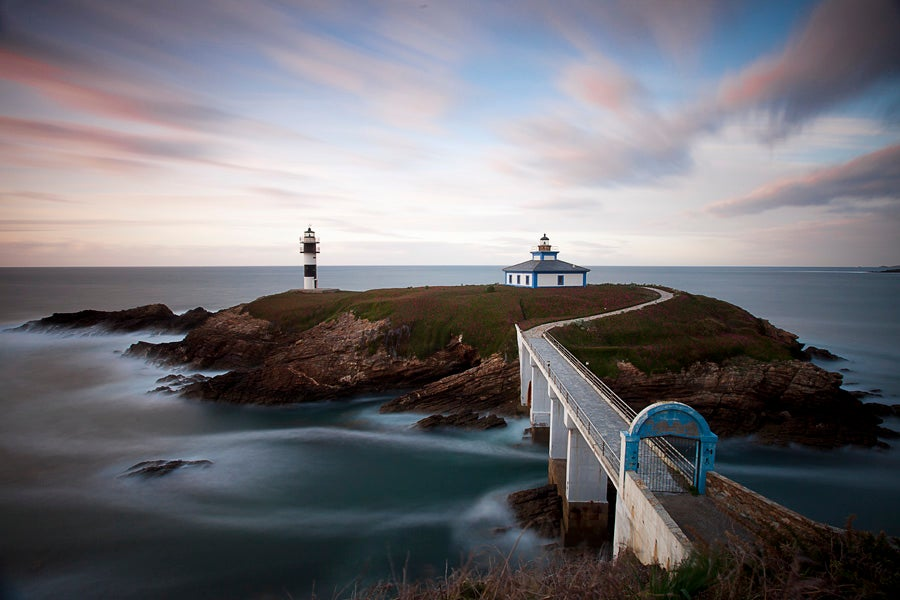 Reflection in Ribadeo Lighthouse
