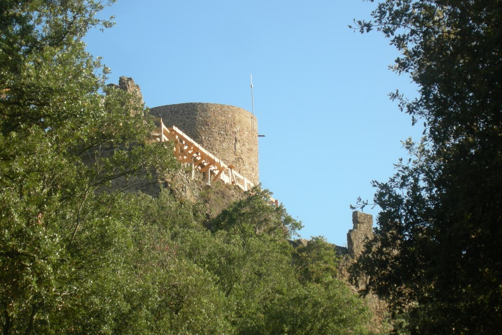 Pared en Castillo de Montsoriu