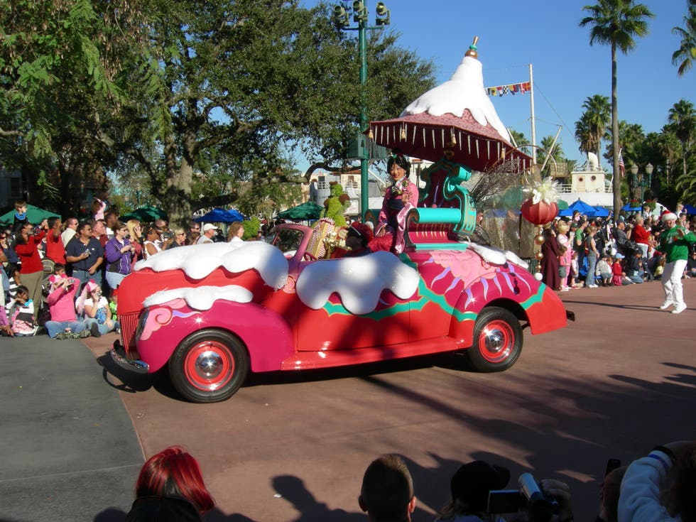 Color rosa en Disney Parades (desfiles en los parques de Disney World)