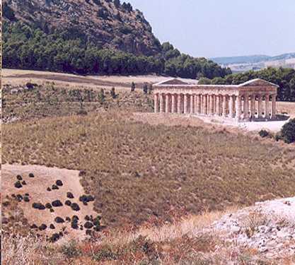 Embalse en Gran Templo de Segesta