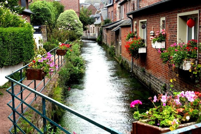 Waterway in Veules-les-Roses