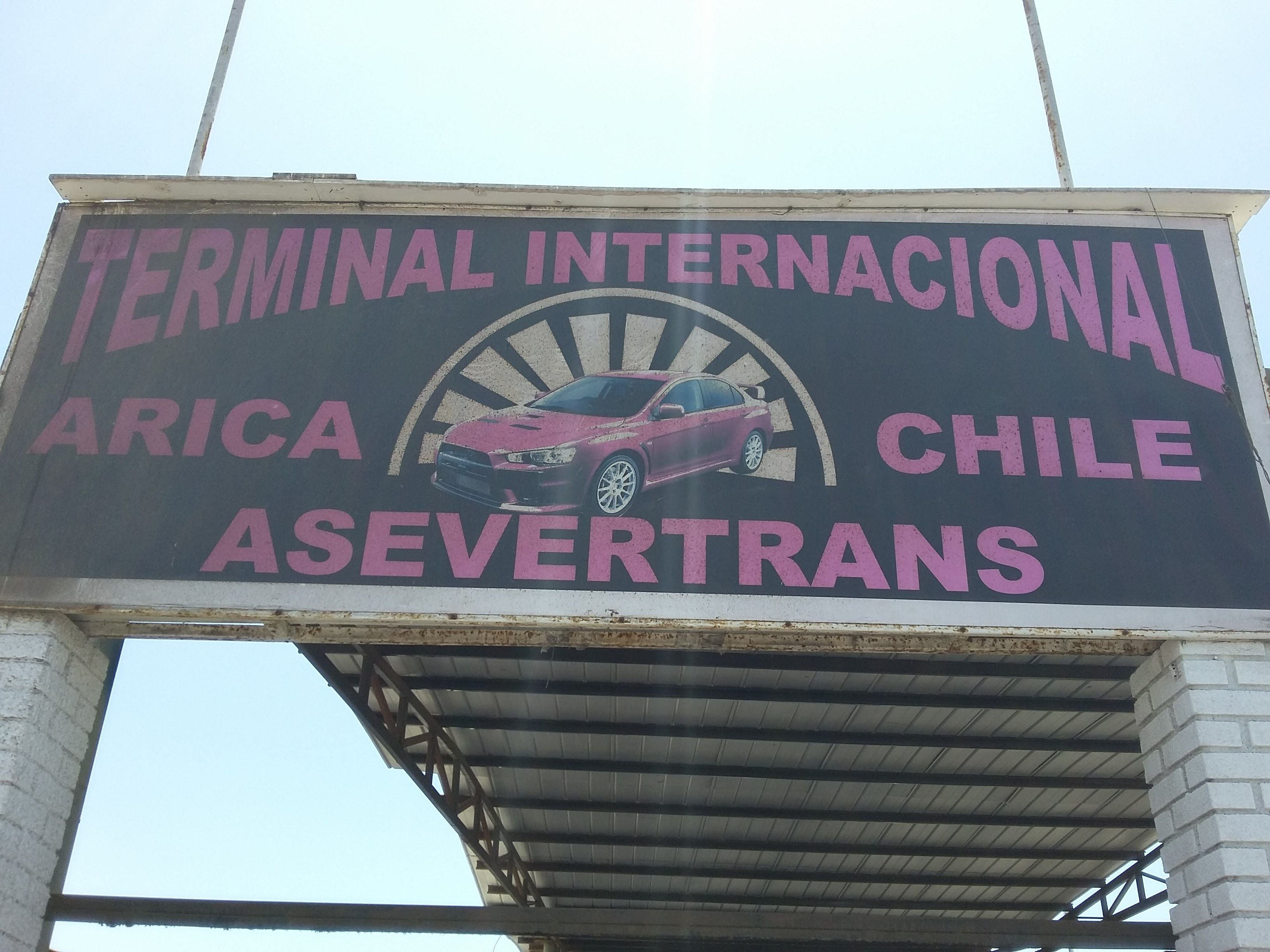Signage in Terminal Internacional Arica-Chile
