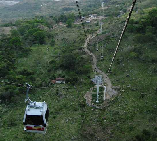 Montagna a Funivia nel Parco di Chicamocha