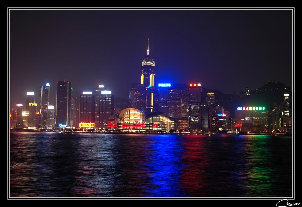 Skyline en Hong Kong