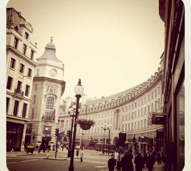 Paisaje urbano en Regent Street