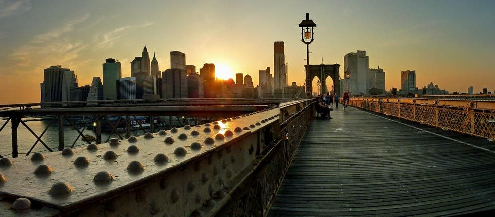Atardecer en el Brooklyn Bridge