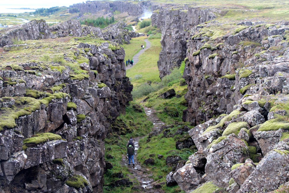 Piedra en Thingvellir National Park