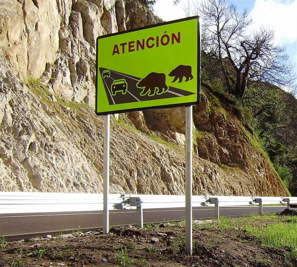 Póster en Carretera de Belmonte Miranda a Somiedo