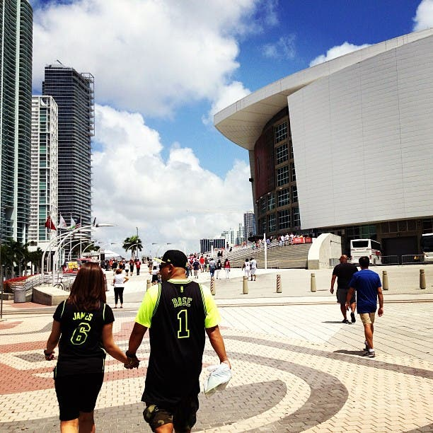 Paseo en American Airlines Arena