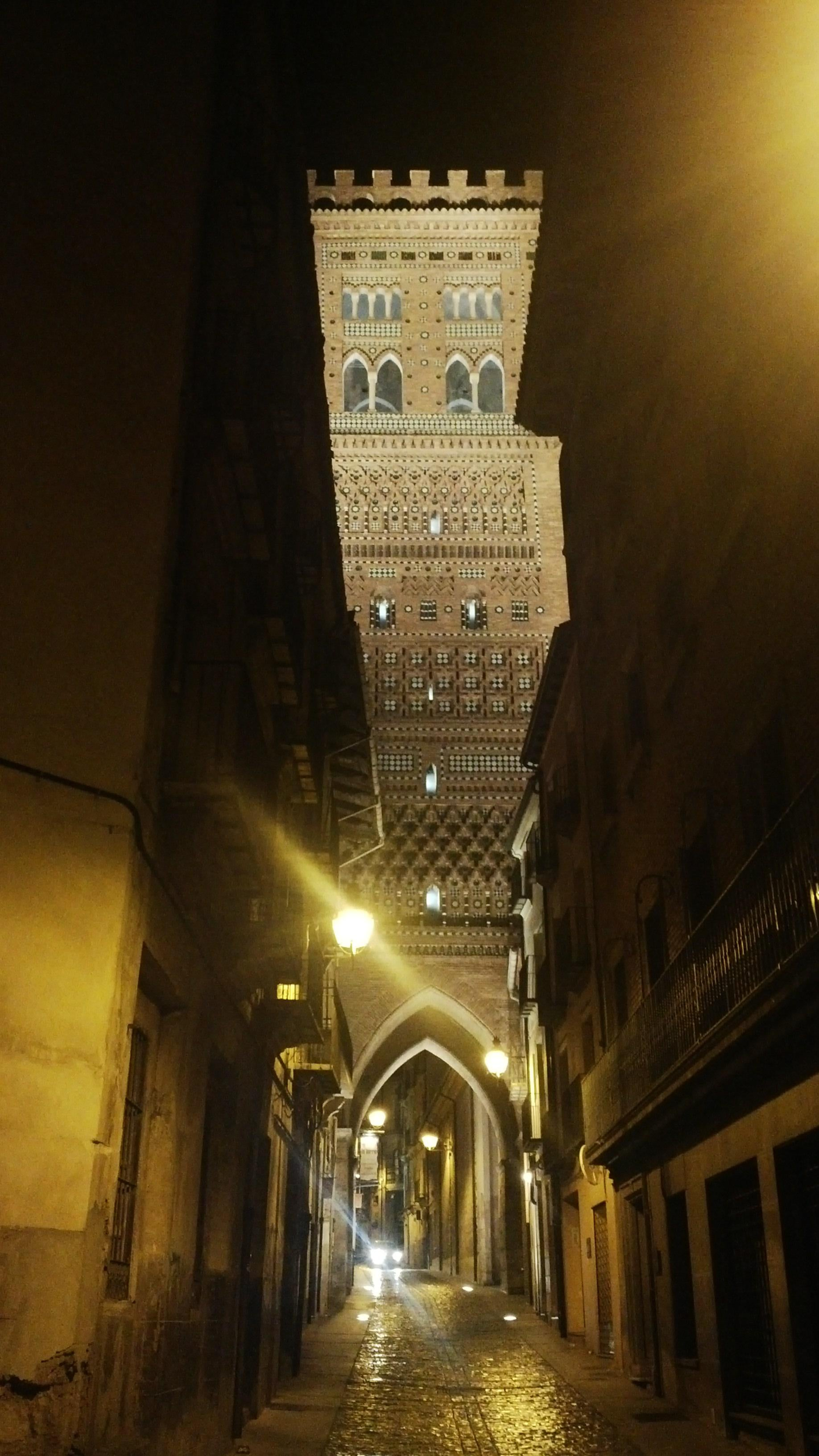 Night in Teruel Cathedral and the Mudéjar Towers