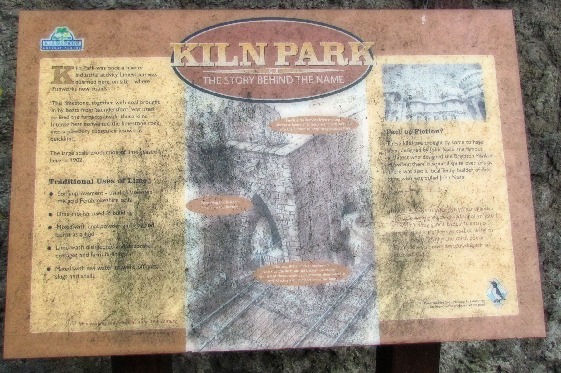 Commemorative Plaque in Lime Kilns