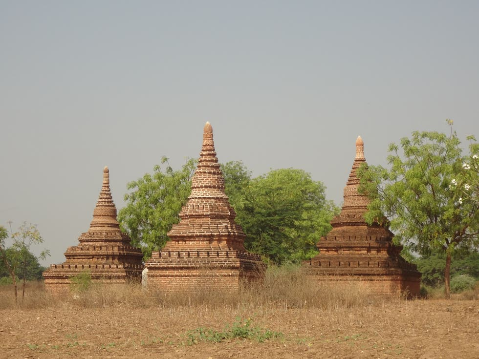 Pagoda en Bagan Archaeological Museum