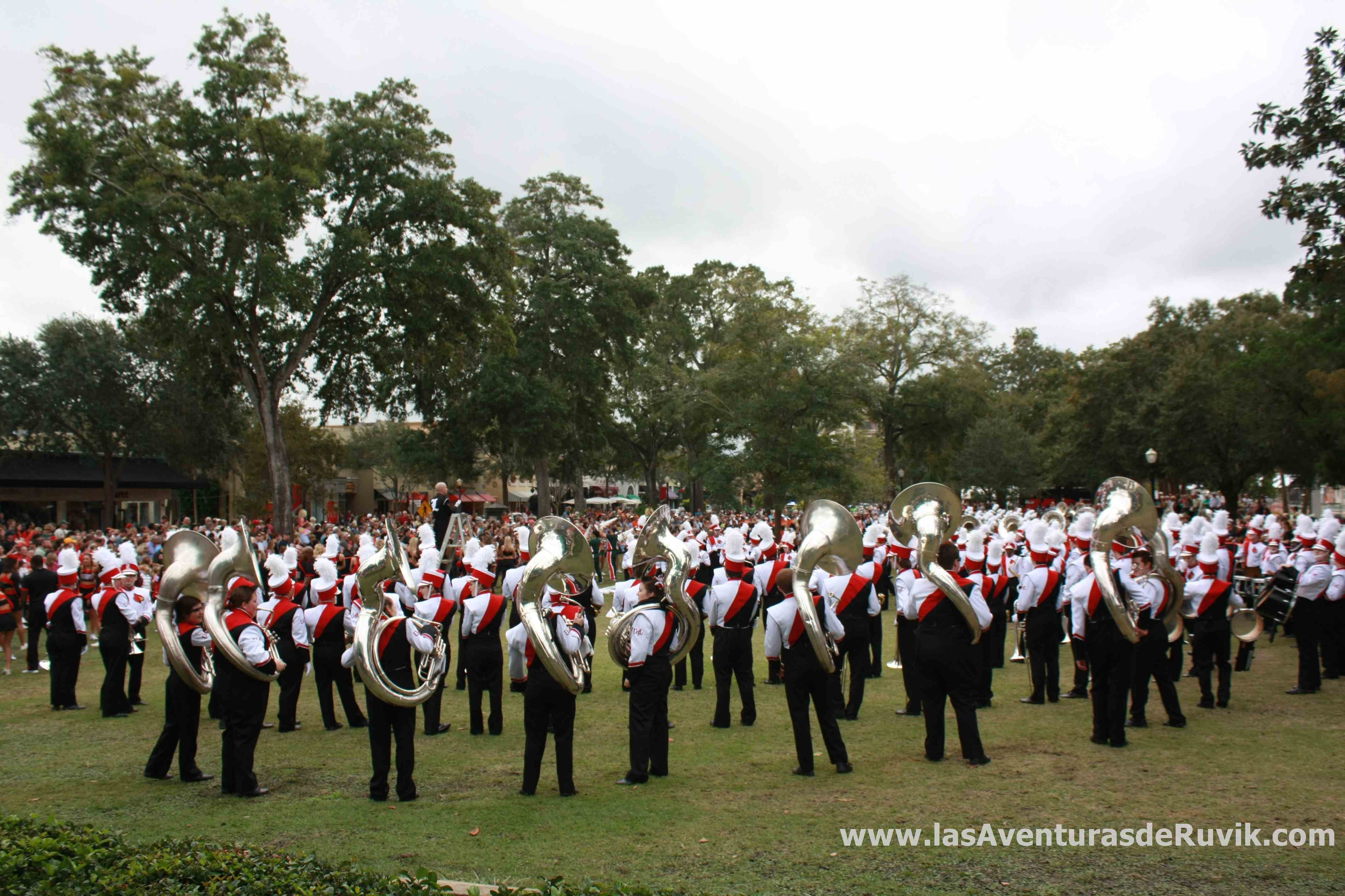 Marching in Winter Park