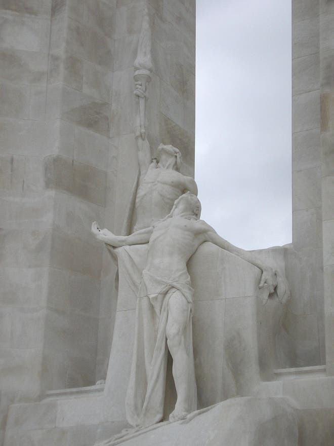 Escultura en Canadian National Vimy Memorial