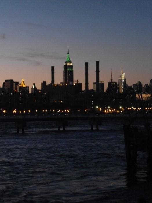 Skyline en Vista de Manhattan desde Williamsburg