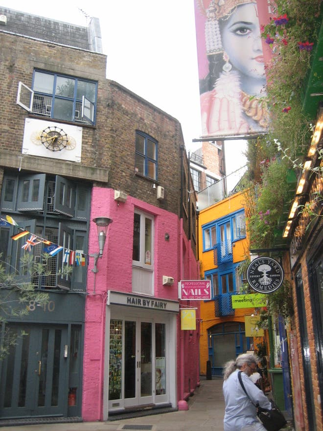 Color rosa en Neal's Yard