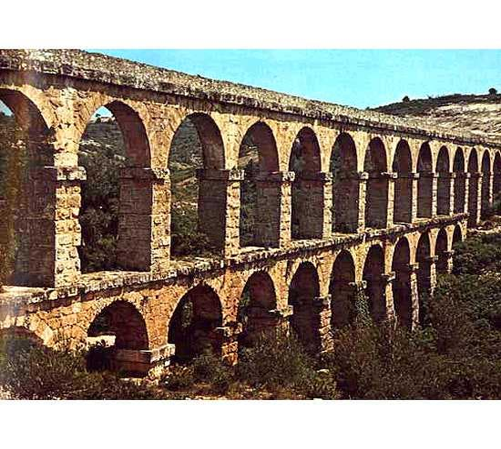 Arquitetura romana antiga em Aqueduct of Tarragona