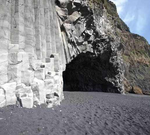 Acantilado en Cueva de Reynisfjall