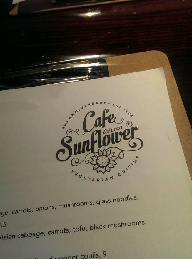 Documento en Cafe Sunflower