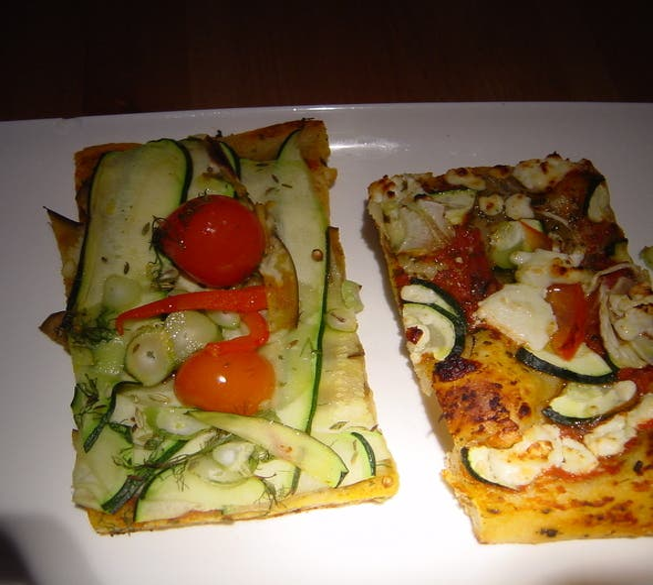 Comida en Veggie pizza Chez Moi