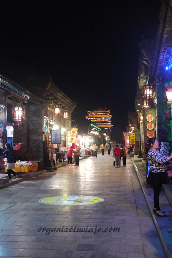 Anochecer en Ancient Ming-Qing Street