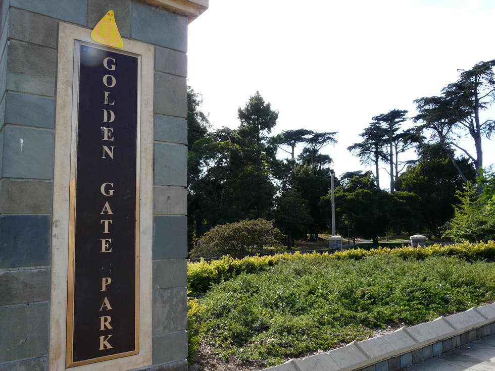 Pared en Golden Gate Park
