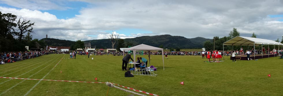 Saltar en Stirling Highland Games 2015