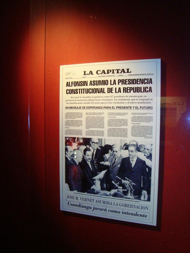 Flyer en Museo del Diario La Capital