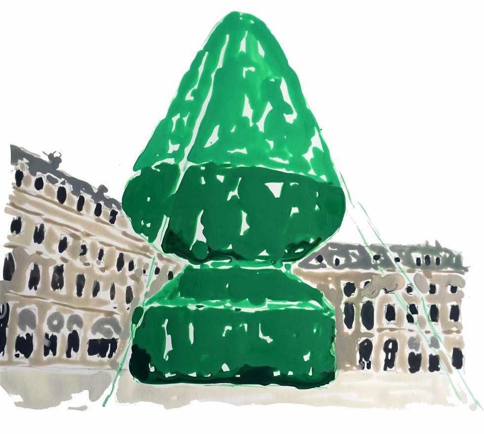 Decoración navideña en Atelier d'artiste Olivier Rocheau