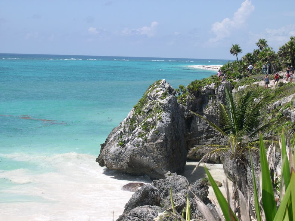 Costa en Playa de Tulum