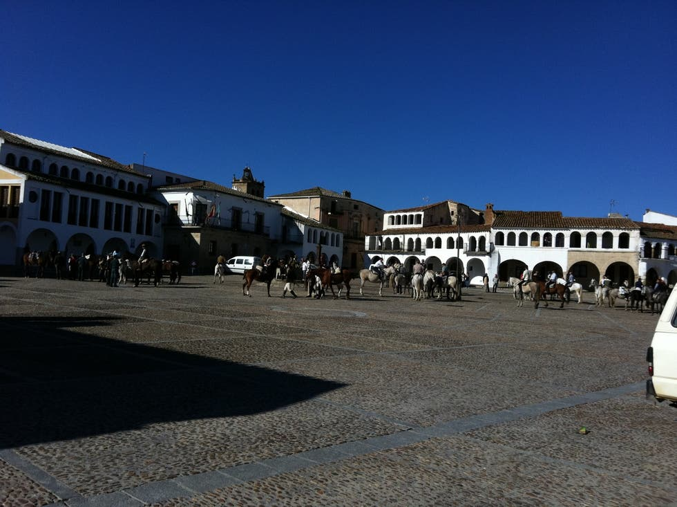 Square in Garrovillas de Alconétar