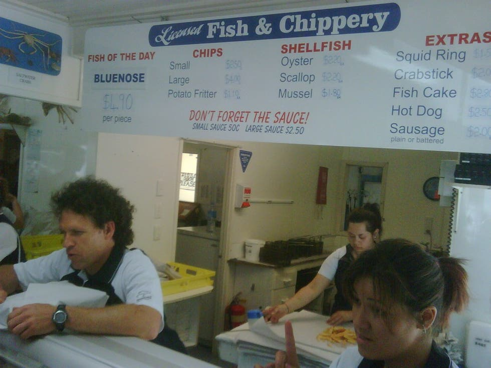 Aula en Mangonui Fish Shop