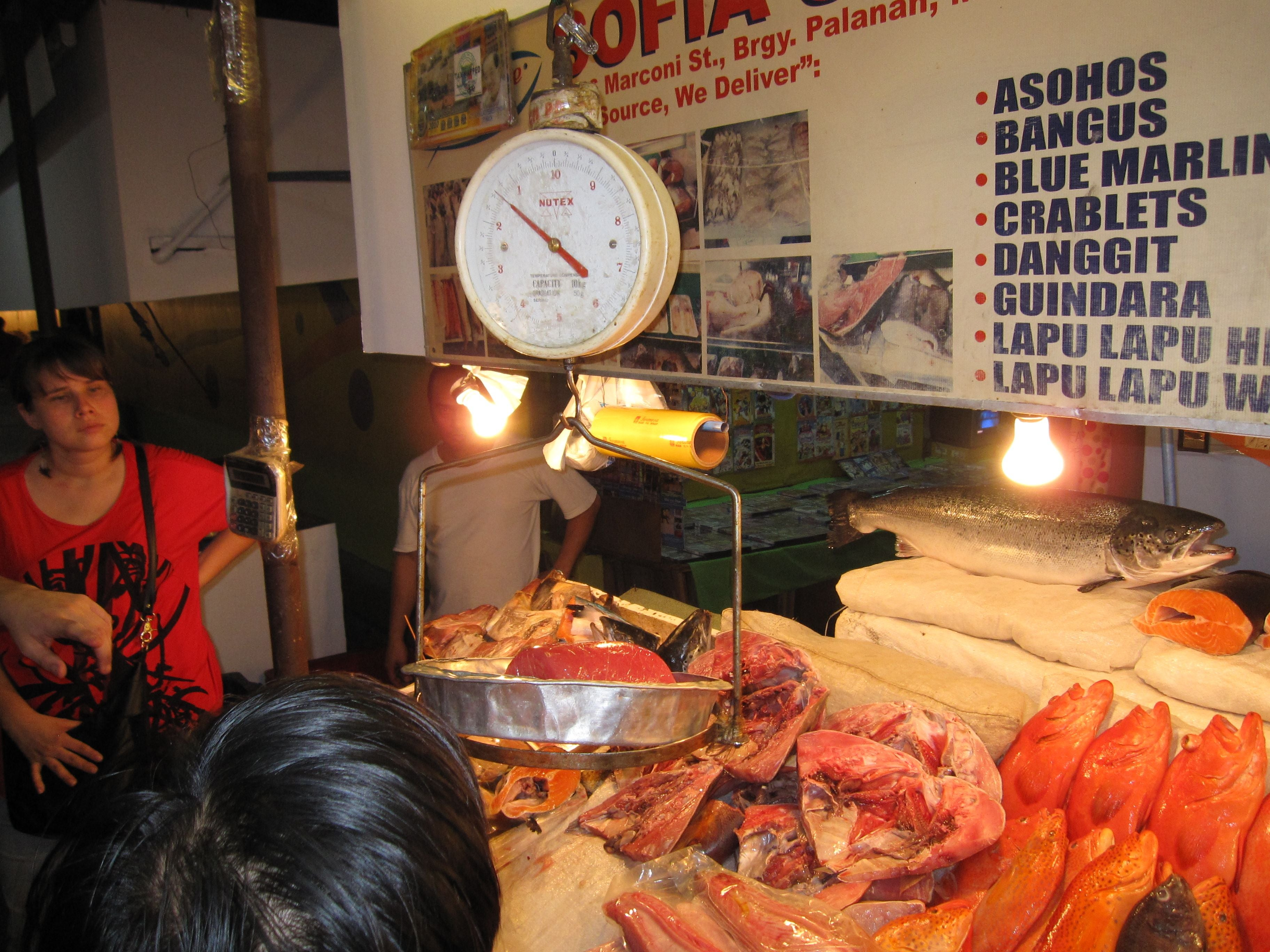 Meat in Dampa Seafood Market