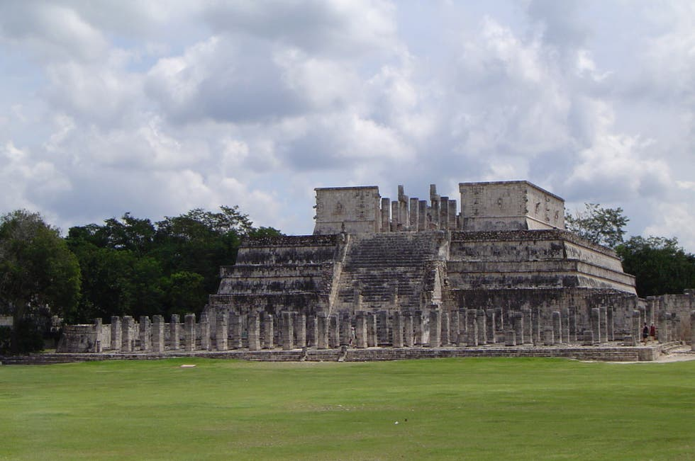 a history of the temple of the warriors El castillo - a pyramid and temple built to the maya god kukulkan  temple of  the warriors - this temple is a large pyramid with four platforms and an.