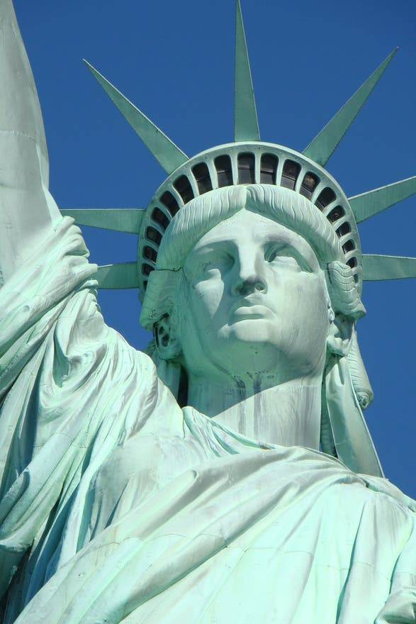 Facade in Statue of Liberty