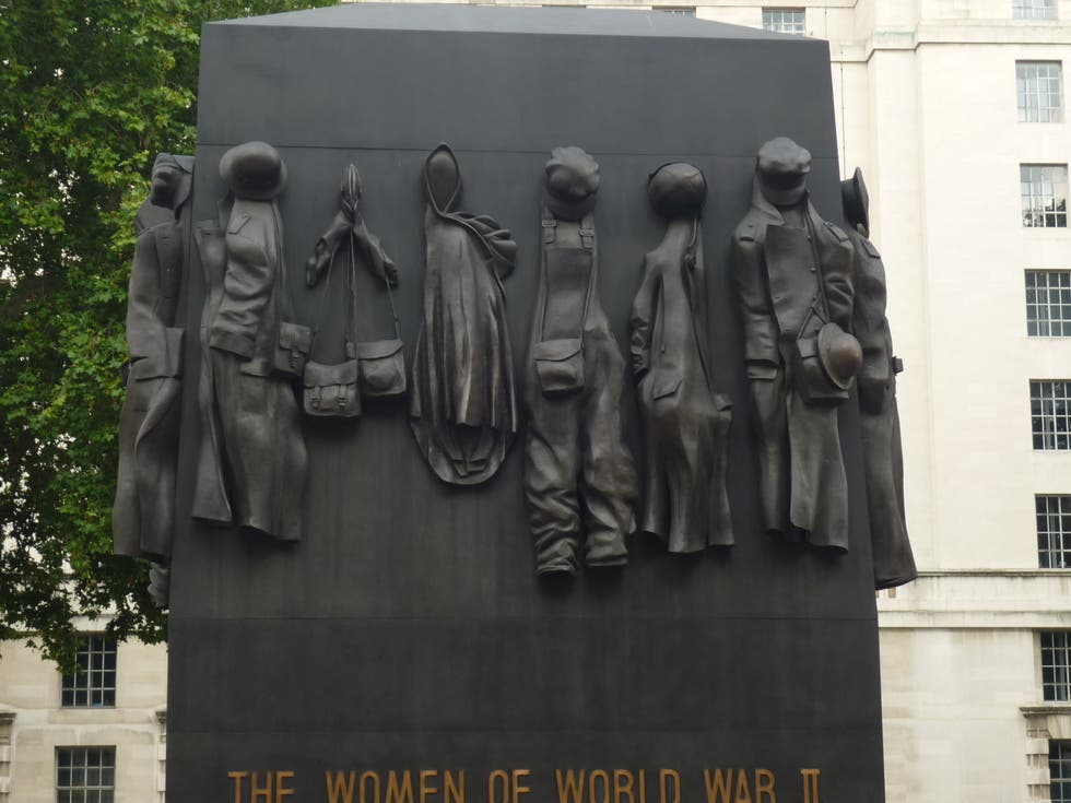 Estatua en The Women of World War Two Memorial