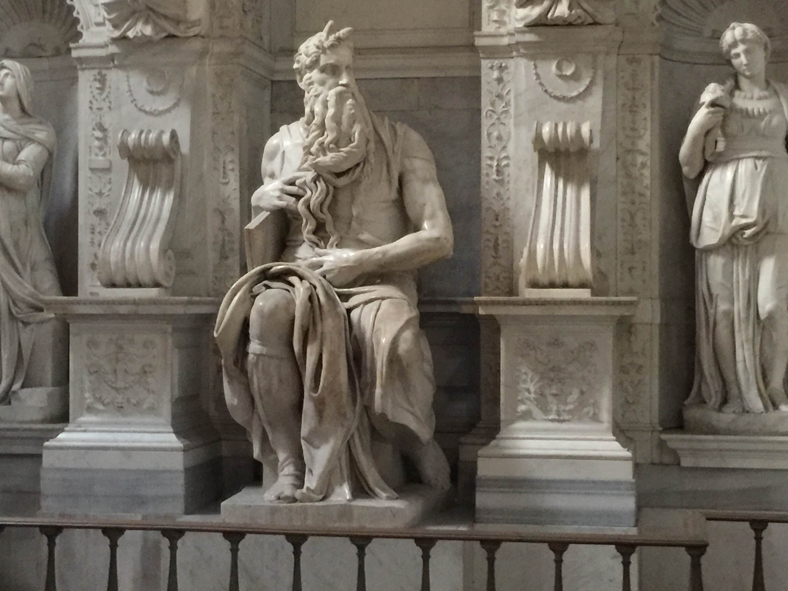 Classical Sculpture in Piazza di San Pietro in Vincoli